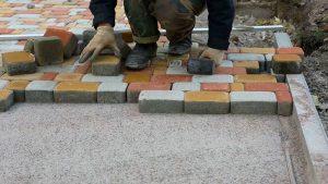 Homemade tile laying